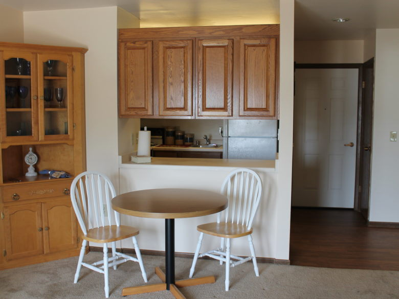 Inside a two bedroom independent living apartment at vmp milwaukee.
