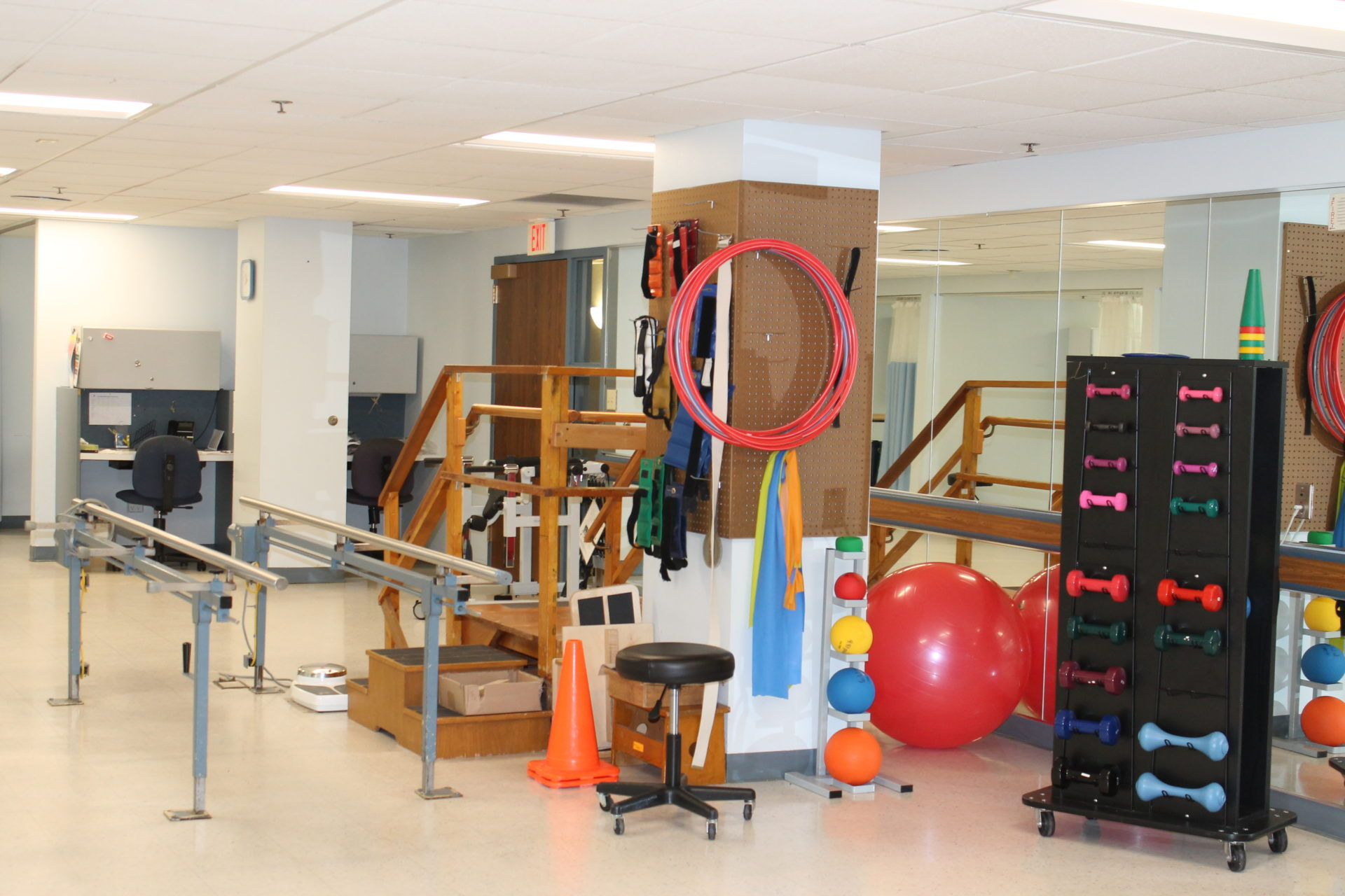 The rehab equipment at VMP milwaukee.
