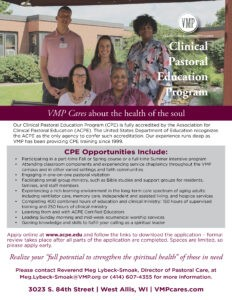 VMP Healthcare & Community Living Clinical Pastoral Care CPE information