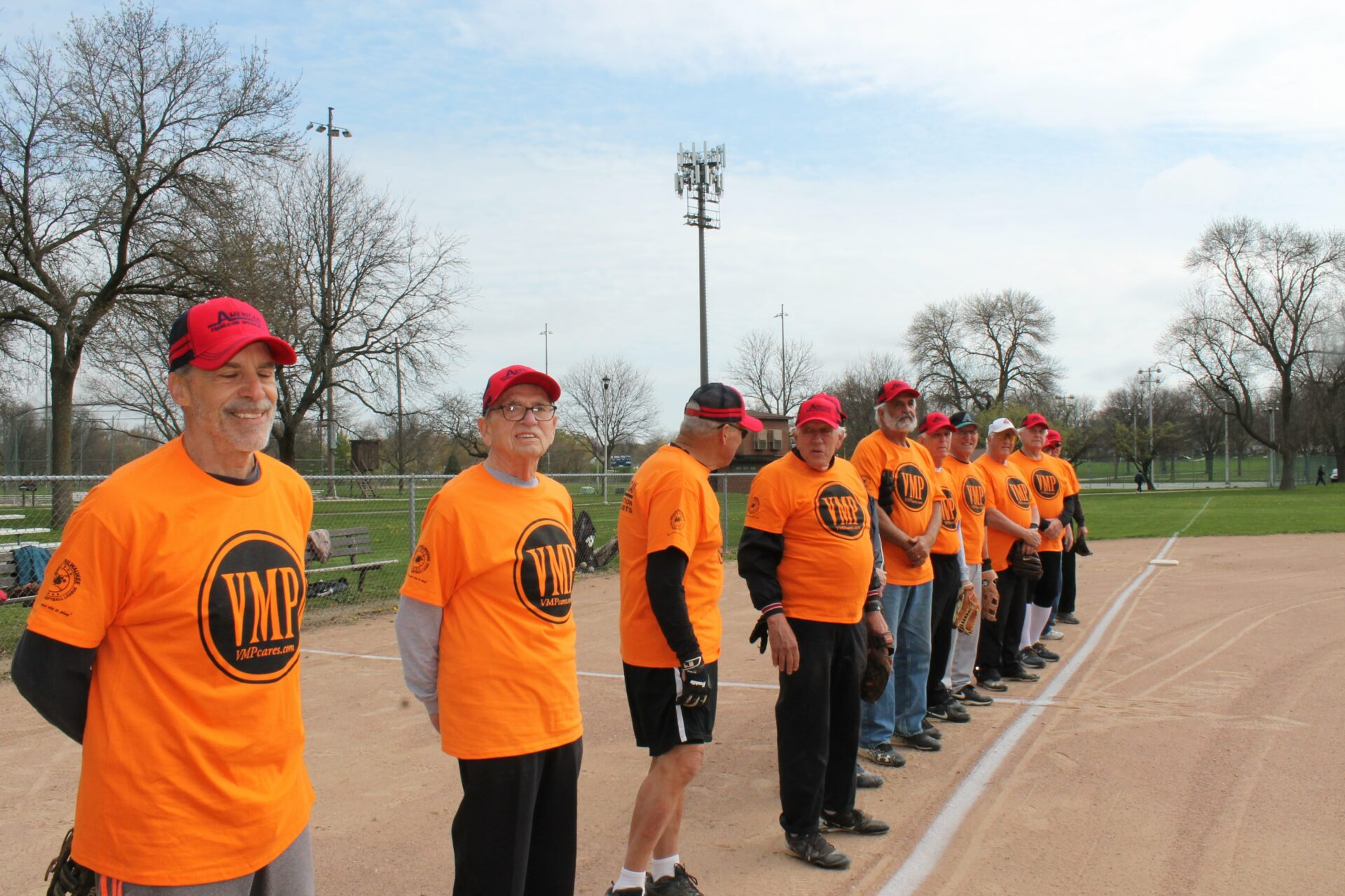 Senior baseball league in West Allis Wisconsin sponsored by VMP Healthcare and Community Living